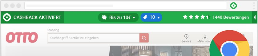 Cashback-Melder für Chrome installieren