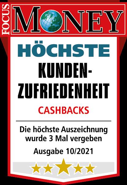 Höchste Kundenzufriedenheit Cashbacks